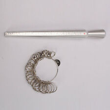 NEW Silver Metal Finger Sizing Stick Measuring Tool Ring Sizer Mandrel Size 1-15