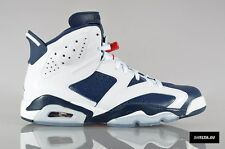 2012 Nike Air Jordan 6 VI Retro Olympic Size 10. 384664-130 1 2 3 4 5