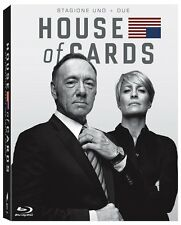 HOUSE OF CARDS - STAGIONE1 & 2 (8 BLU-RAY) COFANETTO SERIE TV con Kevin Spacey