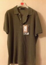 BNWT DSQUARED 2 Cotone Verde Loose Fit Polo Shirt Xl