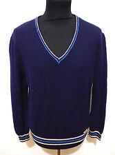 CULT VINTAGE '80 Maglione Maglia Uomo Rete Cotone Man Lace Sweater Sz.XL - 52