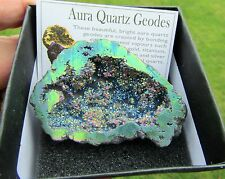 Rainbow Aura Geode Quartz Crystal Gift 49g Reiki Beautiful Quality G4