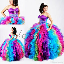 Multi-Color Sweet16 Quinceanera Dresses Formal Prom Party Dress Wedding Gowns