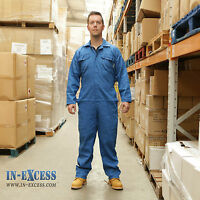 Promech Royal Blue Overalls Coverall Protective Boiler Suit Mechanic Work Mens