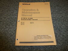 Cat Caterpillar 8-16B 10-20B Extend-A-Mat Screed Owner Operator Manual
