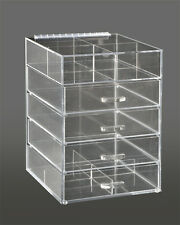 Clear Beauty Product Organizer Storage Case, GlamoureBox Makeup Cube