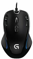 New OEM Logitech Grip Wired Mouse Computer Mac Optical Gaming G300 Black Blue