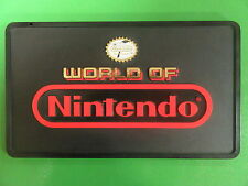 "World of Nintendo Store Sign 12""x8 1/2"" Display Rare Vintage Seal of Quality"