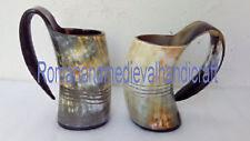 Pair of Norwegian Viking Drinking Horn Mug cup for beer wine mead ale 750 mlA1