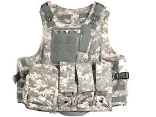 Military Tactical Paintball Army Gear ACU Camo MOLLE Carrier Airsoft Combat Vest