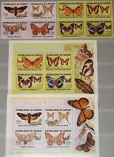 GUINEA 2001 Klb 3442-49 Block 695-96 Schmetterlinge Butterflies Insects Fauna **