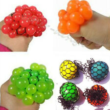 Hot 1PC Anti Stress Face Reliever Mesh Grape Ball Autism Mood Squeeze Relief Toy