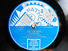 78rpm GEORGES DE LAUSNAY (Piano) plays PAGANINI La Chasse - PATHE ART LABEL