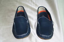 NEW MEN'S LEE COOPER BLUE LEATHER DRIVING SHOES SIZE: US -10 EUR - 44