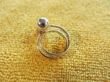 Sterling Ring with Modern Balls Size 9 Turkey DGS (825)
