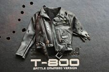 Hot Toys DX13 Terminator 2 T800 Battle Damaged 1/6 Black Jackets w/o Forearm NEW