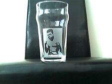 Muhammad Ali Personalised Etched Engraved Beer Pint Glass