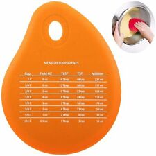 Silicone Scraper Cooking Baking Butter Spatula Measurement Tool Pan Cleaning