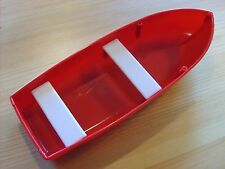 PRESSED STEEL - TONKA TOYS SMALL RED FISHING BOAT WITH WHITE SEATS