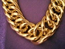 "24"" 60cm 15mm Thick Gold Plated Men's Necklace Chain Fashion Birthday Xmas Gift"