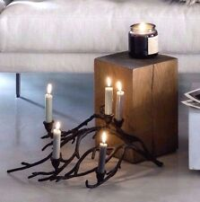 Large 53cm Branch Black Metal Candle Holder 5 candelabra Antler Look Christmas