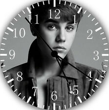 """Justin Bieber wall Clock 10"""" will be nice Gift and Room wall Decor Z35"""