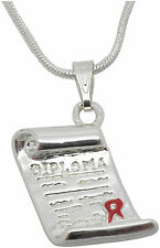 Diploma Charm Pendant Necklace for a great graduation gift New