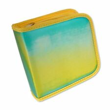 CD DVD Case Wallet Turquoise Yellow Color-Changing Lenticular #CD24-R-002#