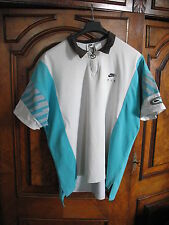 Vintage 90s Nike F.I.T. Challenge Court Agassi Wimbledon Tennis Polo Shirt (XL)