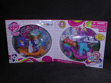 RARE 2012 MY LITTLE PONY PONY SCOOTER FRIENDS DAISY DREAMS & RARITY NEW RETIRED