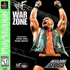 WWF War Zone Sony PlayStation 1Video Game 1998 Acclaim Sports Stone Cold