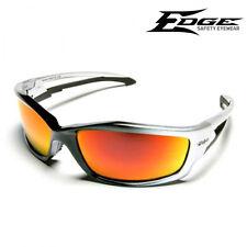EDGE Kazbek Black/Silver Frame Aqua Red Mirror Lens Safety Glasses SKAP119 NEW