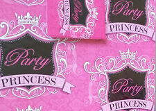 Pink,Black,White Party Princess Wrapping Paper Gift Wrap 2 Sheets 2 Tags,16th