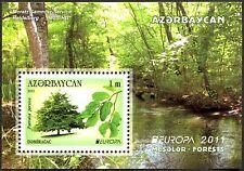 Azerbaiyán Azerbaijan Europa cept 2011, bosque, bloque ** (post fresco)