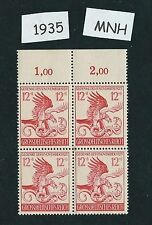 Nazi Germany / Mint stamp block / Munich Putsch 21st anniversary / 1944 / MNH