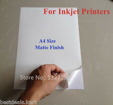 **MATTE** 20 PCS A4 Size SELF ADHESIVE / STICKER / GUMMING PAPER / LABELS SHEETS