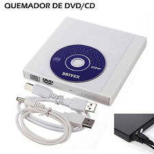 USB External Combo Optical Drive CD/DVD Player CD Burner for PC Laptop Win 7 8 Y