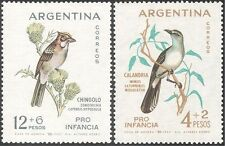 Argentina 1962 Mockingbird/Sparrow/Birds/Nature/Wildlife/Welfare 2v set (n31658)