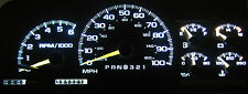 CHEVY SILVERADO 1995-1999 WHITE LED SPEEDOMETER GAUGE CLUSTER UPGRADE KIT