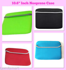 "Reversible Color Notebook Tablet Sleeve Bag Case fr 10.1"" 10.2"" 10.6 "" Inch"