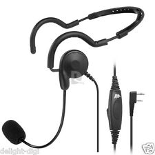 2 PIN PTT MIC Headphone Headset for Baofeng Pofung UV-5R Kenwood Wouxun Radio