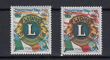 ITALIA 1967 50° LIONS  L. 50 MNH** VARIETA' COLORE DIVERSO + CAMPIONE OMAGGIO