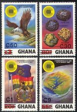 Ghana 1984 (1983 surch) Eagle/Gold/Diamonds/Minerals/Map/Flag/Birds 4v (n41598)