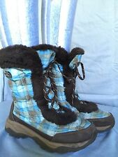 THE NORTH FACE-NUPTSE FUR II Girls Teal/Brown Snow/Winter Boots US 4
