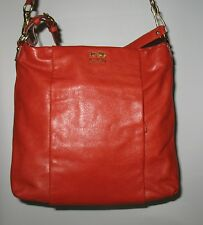New COACH Madison Isabelle Leather Convertible Hobo Bag 21224 Persimmon