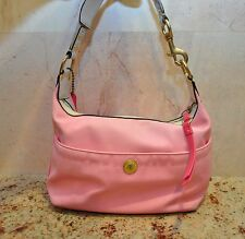Coach Pink Nylon Hobo Shoulder Bag 10798