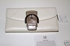 NWT Coach White Leather Soho Buckle Wallet F45622 Below $218 Retail Retired Item