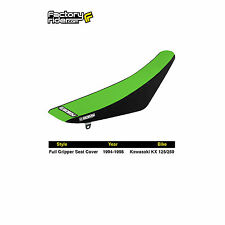 1994-1998 KAWASAKI KX 125-250 Black/Green FULL GRIPPER SEAT COVER by Enjoy Mfg