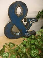 """Hand Made, Vintage Style 3D Industrial Tin Letter   &   12"""" Tall Alphabet"""
