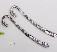Wholesale 20PCS Tibet Silver Hook Retro Dragon Pattern Bookmarks 122*1